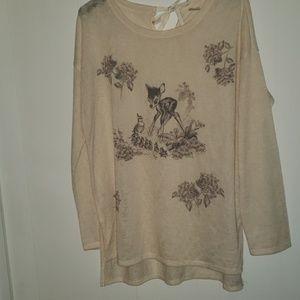 Lauren Conrad Disney Bambi Tunic Sweater